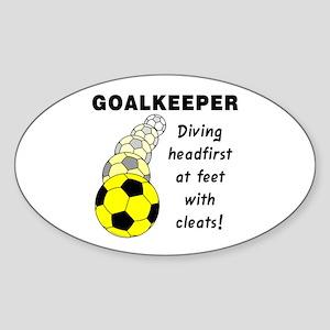 Soccer Goalkeeper Oval Sticker