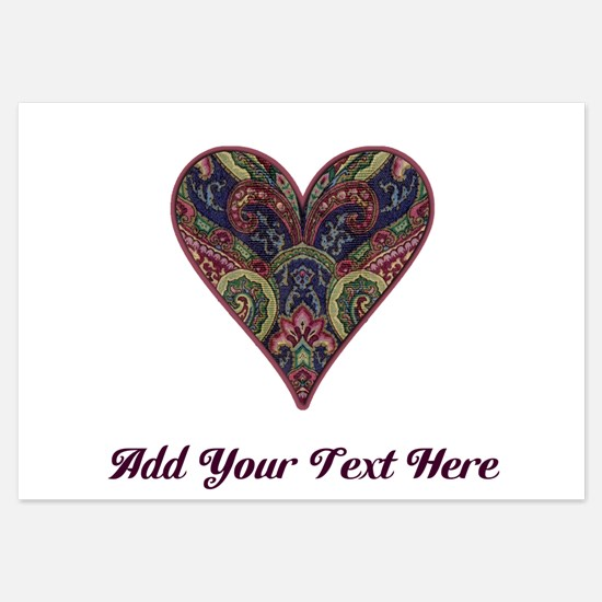 Tapestry Fabric Love Heart - Personalizable 3.5 x