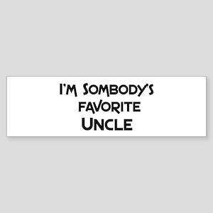 Favorite Uncle Bumper Sticker