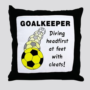 Soccer Goalkeeper Throw Pillow