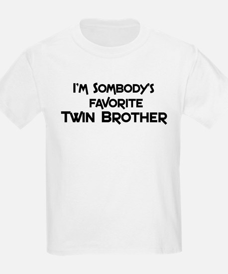 Favorite Twin Brother Kids T-Shirt