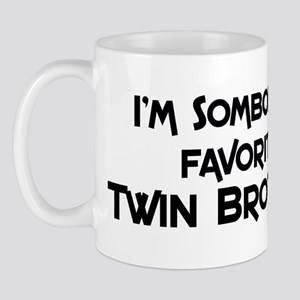 Favorite Twin Brother Mug
