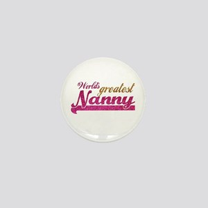 Worlds Greatest Nanny Mini Button (10 pack)