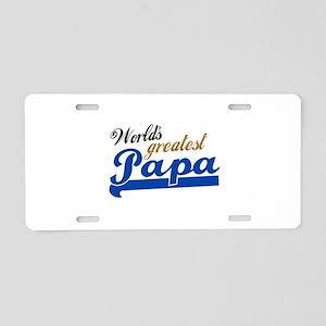 Worlds Greatest Papa Aluminum License Plate