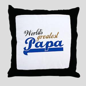 Worlds Greatest Papa Throw Pillow