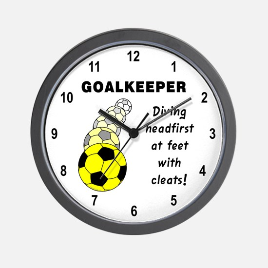 Soccer Goalkeeper Wall Clock