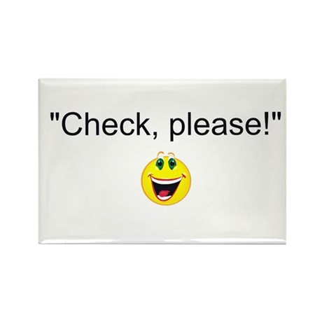Check, Please! Rectangle Magnet (10 pack)