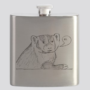 Badger Sketch Flask