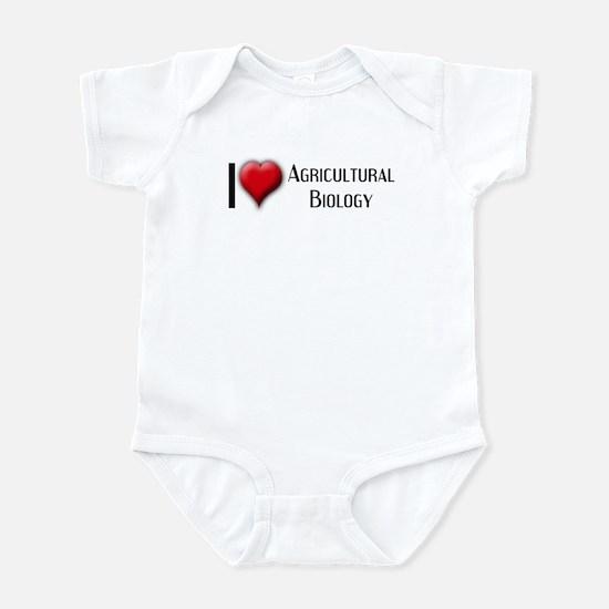 I Love (Heart) Agricultural B Infant Bodysuit