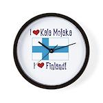 Finland and Kala Mojaka Wall Clock