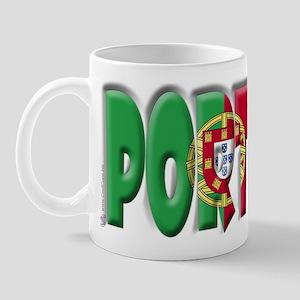 Word Art Flag Portugal Mug