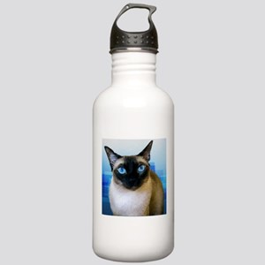 Siamese Blue Stainless Water Bottle 1.0L
