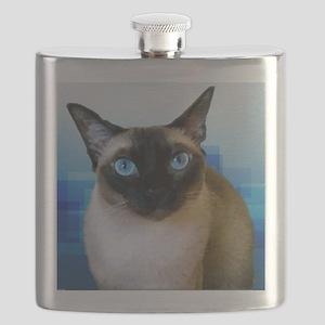 Siamese Blue Flask