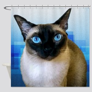 Siamese Blue Shower Curtain
