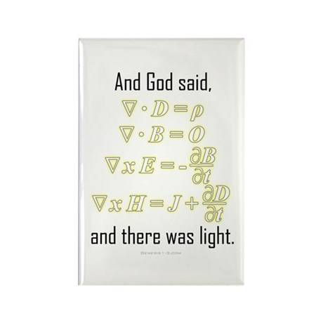 """""""Let There Be Light"""" Rectangle Magnet (100 pack)"""