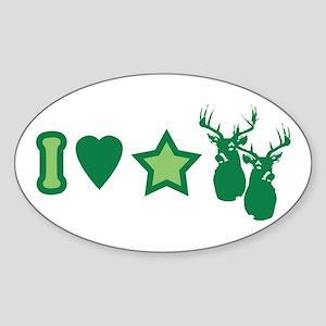 I Love StarBucks Oval Sticker