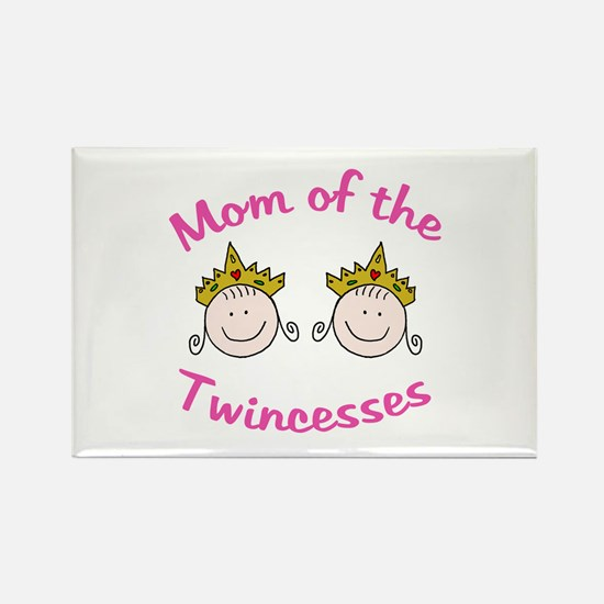 Mom of Twincesses Rectangle Magnet
