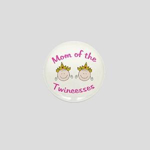Mom of Twincesses Mini Button