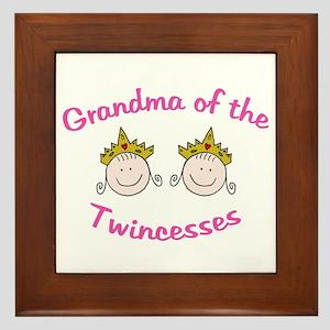 Grandma of Twincesses Framed Tile