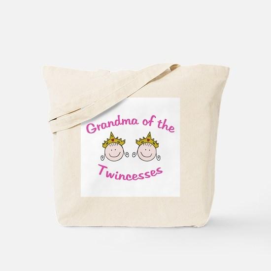 Grandma of Twincesses Tote Bag