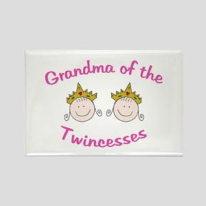 Grandma of Twincesses Rectangle Magnet