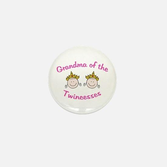 Grandma of Twincesses Mini Button