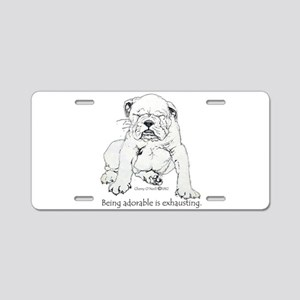 Bulldog Puppy Aluminum License Plate