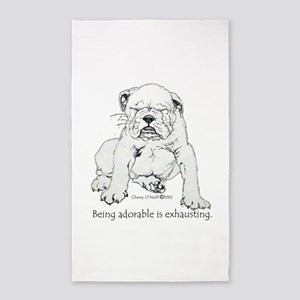 Bulldog Puppy 3'x5' Area Rug