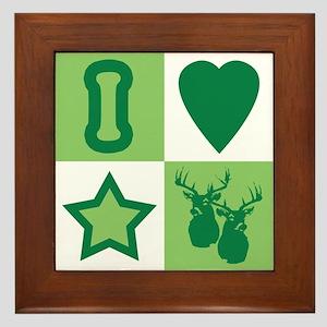 I Love StarBucks Framed Tile