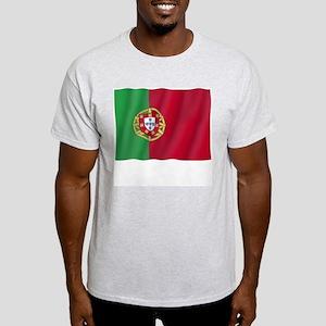 Pure Flag of Portugal Ash Grey T-Shirt