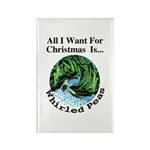 Christmas Peas Rectangle Magnet (100 pack)