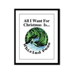 Christmas Peas Framed Panel Print