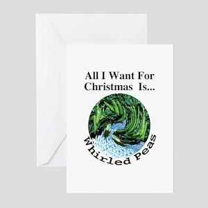 Christmas Peas Greeting Cards (Pk of 10)