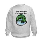 Christmas Peas Kids Sweatshirt