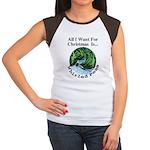 Christmas Peas Women's Cap Sleeve T-Shirt