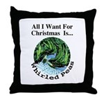 Christmas Peas Throw Pillow