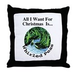 Christmas Peas Throw Pillow