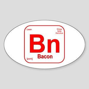 Bacon (Bn) Sticker (Oval)