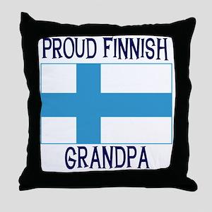 Proud Finnish Grandpa Throw Pillow