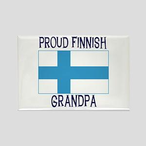 Proud Finnish Grandpa Rectangle Magnet