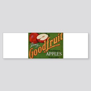 Vintage Fruit Vegetable Crate Label Bumper Sticker