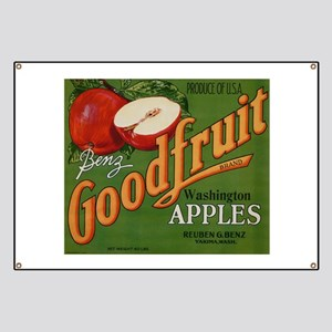 Vintage Fruit Vegetable Crate Label Banner