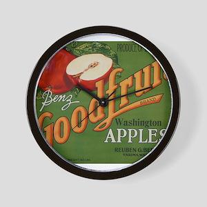 Vintage Fruit Vegetable Crate Label Wall Clock