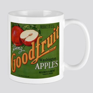 Vintage Fruit Vegetable Crate Label Mugs
