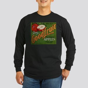 Vintage Fruit Vegetable Crate Label Long Sleeve T-