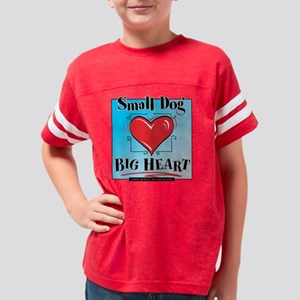 ds_SmDogBigHrt_dk Youth Football Shirt