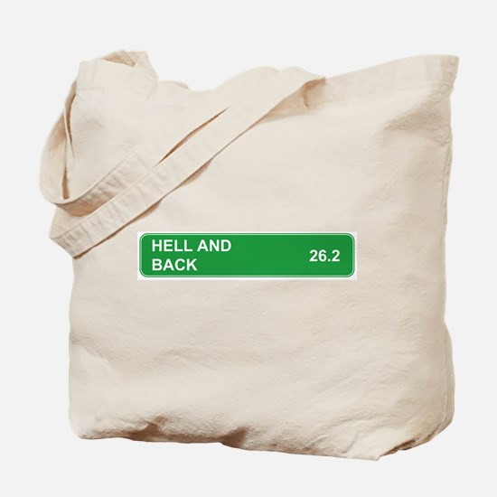 Hell and Back Marathon Tote Bag