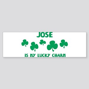 Jose is my lucky charm Bumper Sticker