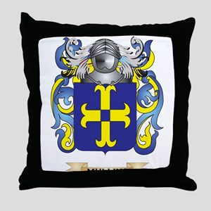 Mullins Coat of Arms - Family Crest Throw Pillow