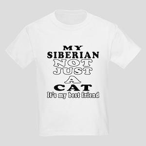 Siberian Cat Designs Kids Light T-Shirt